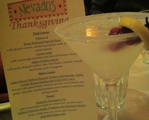 Nevados Cocktail and Menu